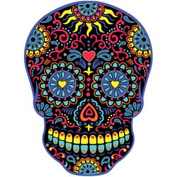 SALE! Neon Black Sugar Skull Plus Size & Supersize T-Shirts S M L XL 2x 3x 4x 5x 6x 7x 8x 9x (All Colors)