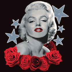 SALE! Marilyn Stars and Roses Plus Size & Supersize T-Shirts S M L XL 2x 3x 4x 5x 6x 7x 8x 9x (All Colors)