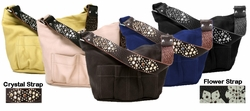 SOLD OUT! Tylie Malibu Park Avenue Leather Utility Bag With Crystal or Flower Strap
