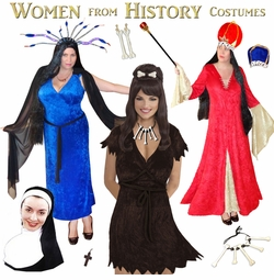 Women from History! Prehistoric Mythical Medieval Plus Size Costumes