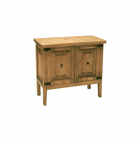 Acatepac Rustic Wood Cabinet