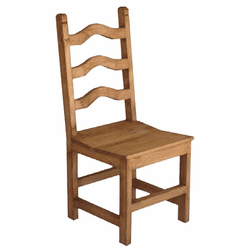 Alta Curva Rustic Wood Chair