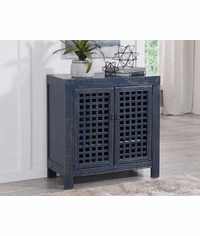 """Andres Blue Accent Cabinet 38""""L"""