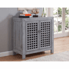"""Andres Gray Accent Cabinet 38""""L"""