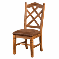 Arizona Oak Rustic Dining Chair W/ Cushion
