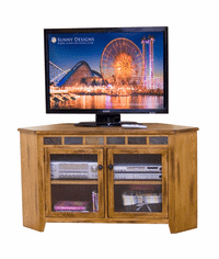 Arizona Rustic Corner Oak TV Stand