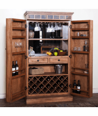 Arizona Rustic Oak Bar Armoire