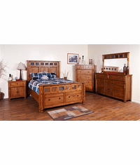 Arizona Rustic Oak Bedroom Set