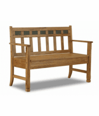 Arizona Rustic Oak Bench w/ Storage