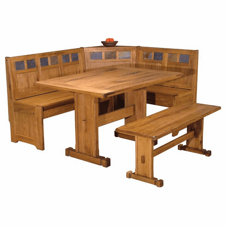 Arizona Rustic Oak Breakfast Nook Set