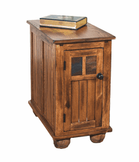 Arizona Rustic Oak Chair Side Table