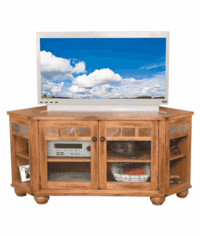 Arizona Rustic Oak Corner TV Stand