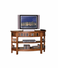 Arizona Rustic Oak Curved Entry & TV Console Table