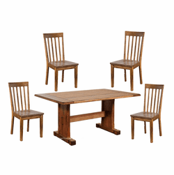 Arizona Rustic Oak Dining 5 PC Table Set