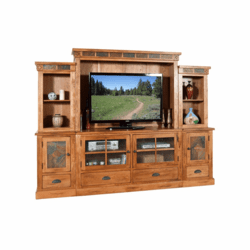 Arizona Rustic Oak Entertainment Center