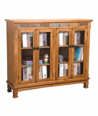 Arizona Rustic Oak Four Door Bookcase