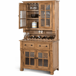 Arizona Rustic Oak Hutch and Buffet Set