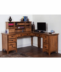 Arizona Rustic Oak L-Shape Desk