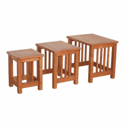 Arizona Rustic Oak Nesting Table Set