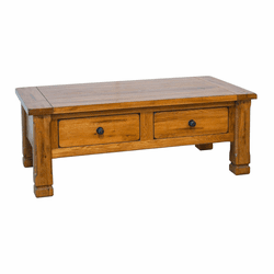 Arizona Rustic Oak Occasional Coffee Table W/ 2 Drawers