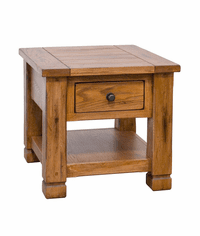 Arizona Rustic Oak Occasional End Table w/ Drawer