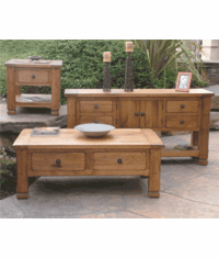 Arizona Rustic Oak Occasional Table Set