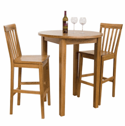 Arizona Rustic Oak Pub Table Set