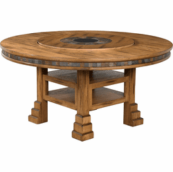 Arizona Rustic Oak Round Dining Table