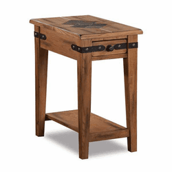 Arizona Rustic Oak Slate Top Chair-Side End Table
