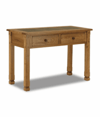 Arizona Rustic Oak Sofa Table W/ Slate Tiles Top