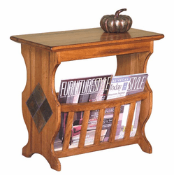 Arizona Rustric Oak Magazine Rack & End Table