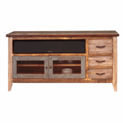 "Aspen Antique Multi Color 62"" TV Stand"