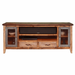 "Aspen Antique Multi Color 76"" TV Stand"