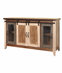 "Aspen Antique Multi Color Barn Door 60"" TV Stand"