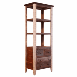 Aspen Antique Multi Color Bookcase