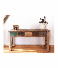 Aspen Antique Multi Color Console or Sofa Table