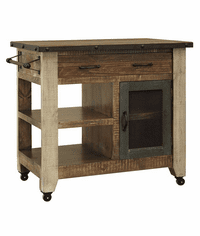 Aspen Antique Multi Color Kitchen Cart