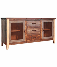 Aspen Antique Multi-Color Rustic Buffet