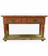"Aspen Antique Red 64"" Console Table"