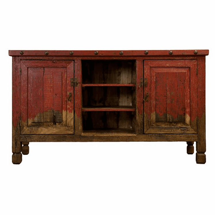 "Aspen Antique Red 64"" TV Stand"