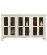 Aspen Antique White Rustic Console Table