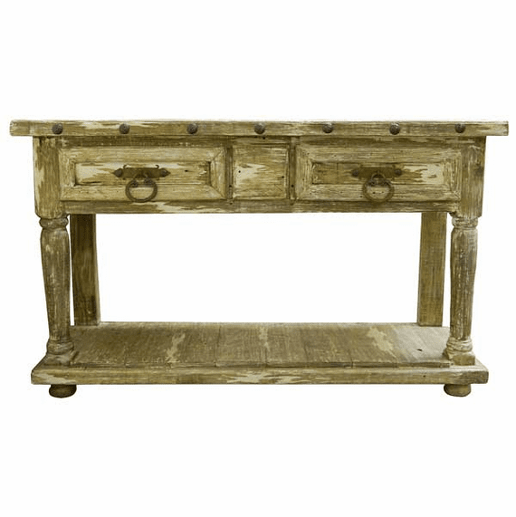 "Aspen Antique White Wash 64"" Console Table"