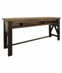 Aspen Rustic Counter Height Sofa Table 78""