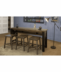 Aspen Rustic Counter Height Sofa Table & Bar Stool Set