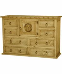 Bandera Rope and Star Pine Dresser
