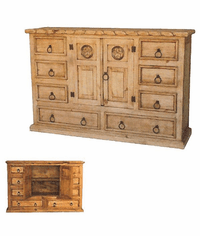 San Carlos Rustic Rope and Star Pine Dresser
