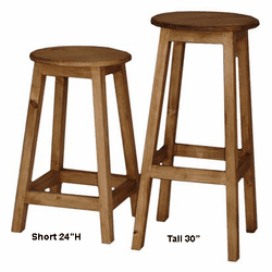 Barro Rustic Pine Wood Bar Stool