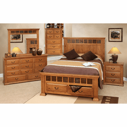 Cantera Rustic Oak Bedroom Furniture Set
