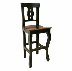 Cantina Rustic Bar Stool Black