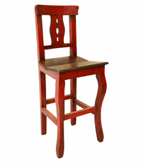 Cantina Rustic Bar Stool Red